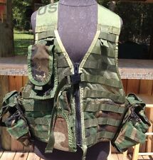 MOLLE II Fighting Load Carrier VEST w/5 Accessories FLC US Army ACU Looks Unused