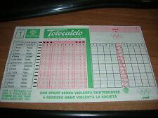 SCHEDINA  TOTOCALCIO  CONCORSO  N° 1  DEL  24 / 8 / 1996  ( NUOVA )