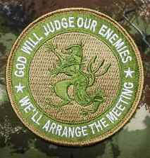 NAVY SEAL GOD WILL JUDGE OUR ENEMIES MULTICAM VELCRO® BRAND FASTENER PATCH