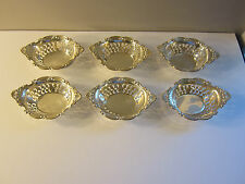 Set of 6 Vintage Birks Pompadour Cromwell Sterling Silver Nut/Candy Dishes