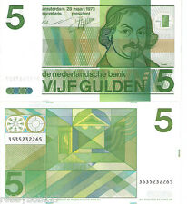 NETHERLANDS 5 Gulden Banknote World UNC Currency Money p95 Note 1973 BILL Holand