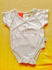 ♥ Baby Imported Pumpkin Patch White Bunny Crossover Onesies Bodysuit (Tiny NB) ♥