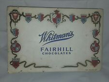 Whitman's Fairhill Box 1937 Original Antique Chocolate Candy