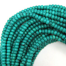 "6mm green turquoise rondelle beads 16"" strand S2"