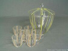schöne alte Glas-Bowle mit 6 Gläsern 60er Jahre