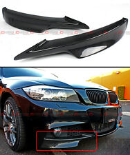 CARBON FIBER FRONT BUMPER SPLITTERS FOR BMW E90 E91 LCI 3 SERIES M TECH BUMPER