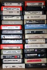 8 TRACK TAPE LOT OF 28  ROCK TAPES -FOREIGNER,KISS,ZEP,REO,RUSH,STYX,VAN,YES,WHO