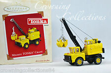 2003 Hallmark Mighty Tonka Crane Keepsake Ornament Die-Cast Metal Hasbro Toy NIB