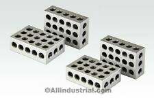 "2 MATCHED PAIRS ULTRA PRECISION 1-2-3 BLOCKS 23 HOLES .0001"" MACHINIST 123"