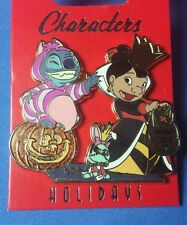 Stitch as Cheshire Lilo as Queen Hearts Scrump WDI Disney Pin Halloween LE 250