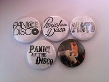 5 Panic! at the Disco Pin Button badges 25mm Fall OUt Boy Paramore Time to Dance