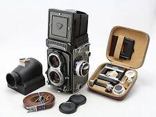 Rollei Rolleiflex T Grey vintage 6x6 camera, lens Zeiss Tessar 3,5/75mm + extras