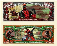 DEADPOOL - Billet 1 MILLION DOLLAR US ! Série Super Heros Comics bd Film Marvel