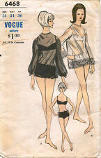 1960's VTG VOGUE Bathing Suit&Cover-Ups Sewing  Pattern 6468 S 14