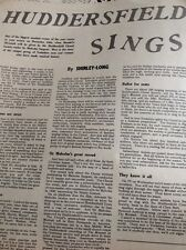 L5-1 Ephemera 1953 Picture Article Huddersfield Sings Choral Society Messiah
