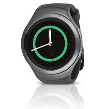 Samsung Gear S2 SM-R730T Smartwatch (AT&T) w/ Rubber Band (L) - Dark Gray