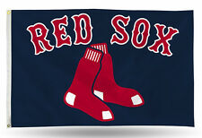 NEW Boston Red Sox MLB Baseball 3x5 Official Polyester Deluxe Flag Banner