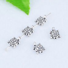 30pcs Tibetan silver Charm Spacer Beads Turtle  Jewelry Finding 9X7mm XZ46