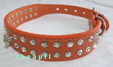 Dog Collar Bling Rhinestone PU leather Collar Small Dog