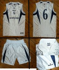 SCOTLAND  Basketball Top LARGE & shorts MEDIUM -#6 +MATCH WORN  BASKETBALL SHIRT