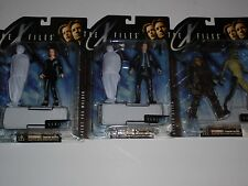 3 Sealed X-Files Action Figures - Dana Scully, Fox Mulder lot