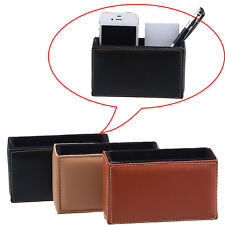 Car Leather Storage Cradle Box Cell Phone Bill Pen Pocket Bag Organizer Holder