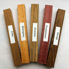 Mixed pack of five exotic wood blanks for pen turning