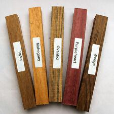 Madera exótica Mezclado Pack de cinco espacios en blanco para pluma girando