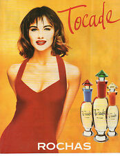 Publicité Advertising 1996  Parfum  Tocade de ROCHAS  pour femme