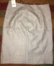 J CREW DESIGNER 100% WOOL WINTER SKIRT LINED SIZE US 10 UK 14 12 OFFICE PENCIL