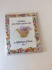 Vintage Garden Symphony Pin, Mother's Day Brooch Watering Can, Valentine's Day