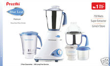 Preethi Blue Leaf Platinum Mixer Grinder 750 Watts, 5Year Warranty on motor