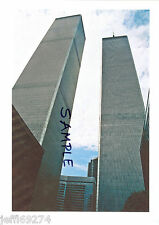 Photo WORLD TRADE CENTER NYC WTC TWIN TOWERS LOOKING UP Early 1980s Free Ship!