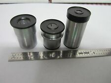 LOT 3 EA MICROSCOPE  EYEPIECES UNITRON PHOTO + MICROMETER OPTICS BIN#N1-05