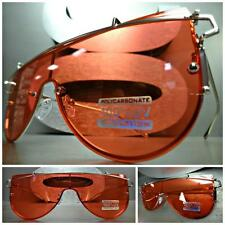 SPACE ROBOT FUTURISTIC CYBER CYCLOPS SHIELD PARTY CLUB SUN GLASSES Red Flat Lens