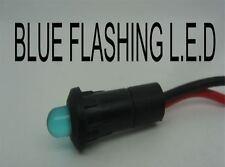 Led Azul Redonda coche alarma de advertencia intermitente Indicador De Luz De Tablero 12v Barco Brazo