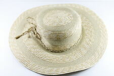 ELEGANT LADIES BEIGE STRAW SUMMER INSIRED ROPE DESIGN DERBY BOWLER HAT(HT17)