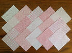 COTTON FABRIC PATCHWORK SQUARES PIECES CHARM PACK 2, 3, 4, 5 INCH ~ PINK