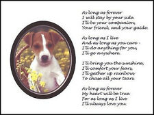 "Beautiful JACK RUSSELL TERRIER print ""AS LONG AS FOREVER"" art dog pup poem NEW!"