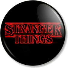 "STRANGER THINGS LOGO 1"" 25mm Pin Button Badge Netflix TV show sci-fi 11 Eleven"