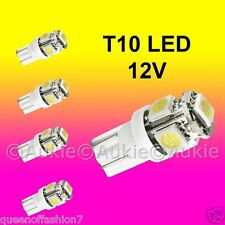 5 x T10 12V LED Interior Car Auto 5 SMD Light Bulb White Dome Globe