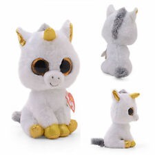 Soft TY Pegasus the White Unicorn Beanie Boo Plush CollectibleToy dolls 6'' New