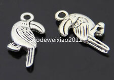 12pc Tibetan Silver birds Charm Pendant accessories Beads wholesale PL206