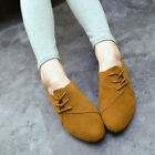 2015 new fashion loafers nubuck leather flat shoes summer lace up women shoes