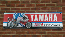 BR23 YAMAHA CLASSIC SUPERBIKE BANNER  FZR750R OW01 YZF750 GARAGE WORKSHOP SIGN