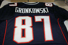 "New England Patriots #87 ROB GRONKOWSKI Custom Jersey SIZE LARGE ""GRONK"""