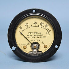 Vintage Weston Decibel Panel Meter