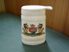 CITY OF BRISTOL CREST - OLD SWISS MILK POT - GOSS CRESTED CHINA
