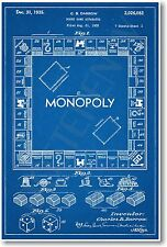 Monopoly Patent - NEW Vintage Invention Patent Poster