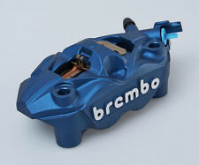 Suzuki Hayabusa Brembo 108mm Monoblock front brake calipers in blue, pair of